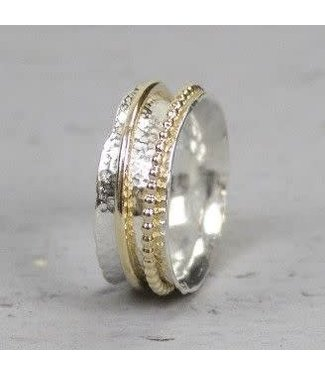 Jeh Jewels Ring zilver + Goldfilled 18728