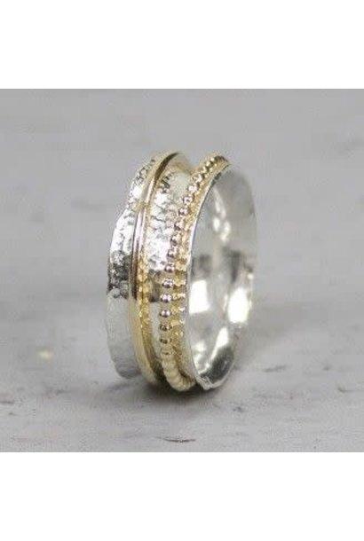 Ring zilver + Goldfilled 18728