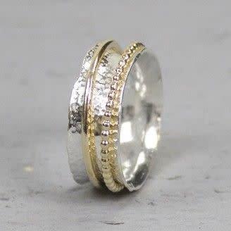 Ring zilver + Goldfilled 18728-9