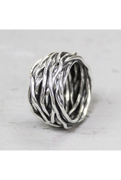 Ring silver oxy wrapping ring 18799