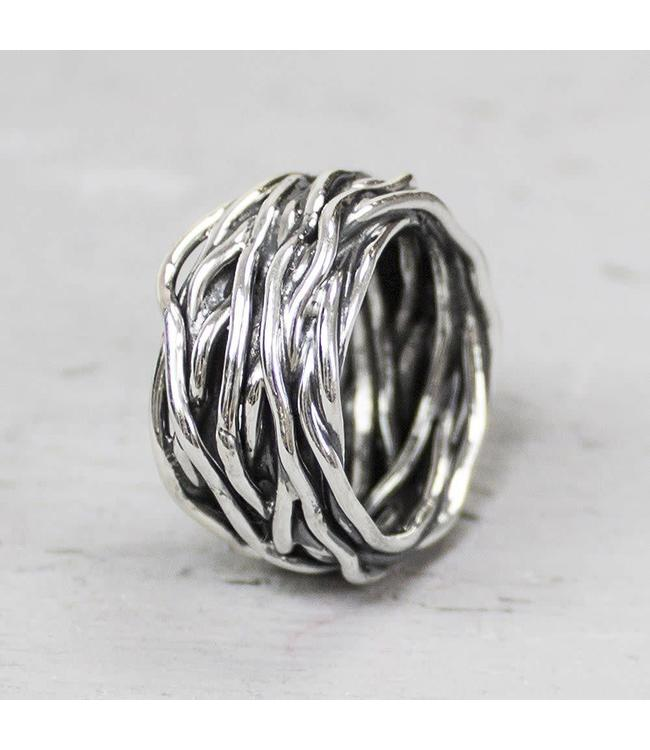 Ring zilver oxy wikkelring 18799