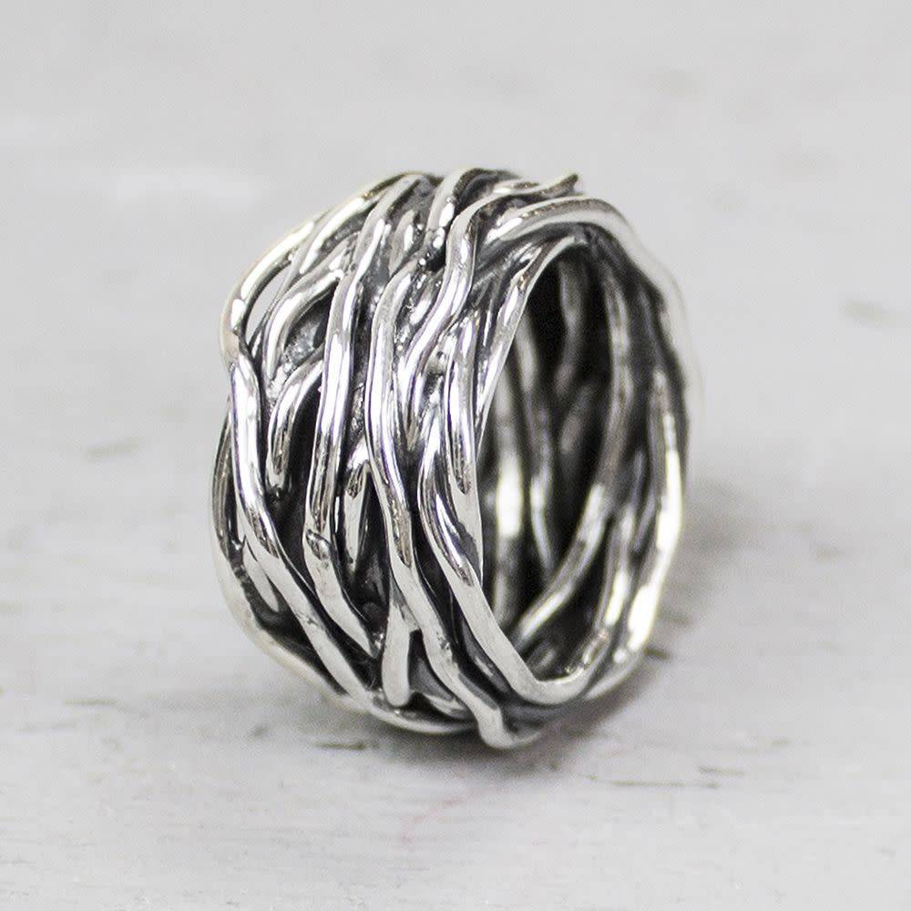 Ring silver oxy wrapping ring 18799-3