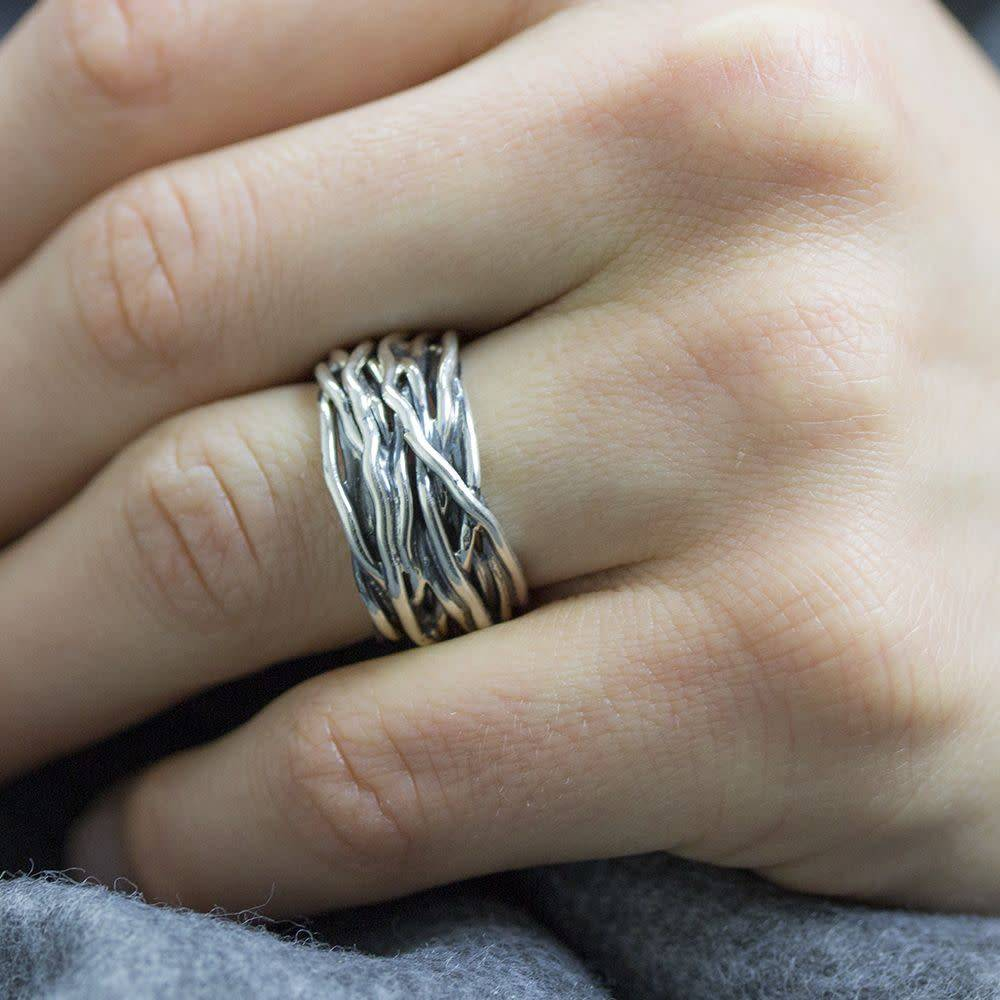 Ring silver oxy wrapping ring 18799-4