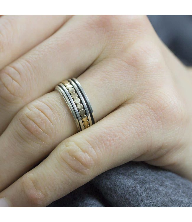 Jeh Jewels Ring zilver + Goldfilled 19222