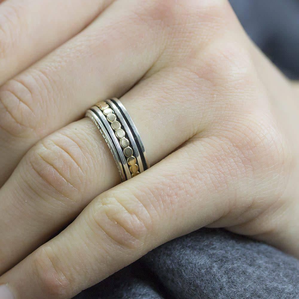 Ring zilver + Goldfilled 19222-1