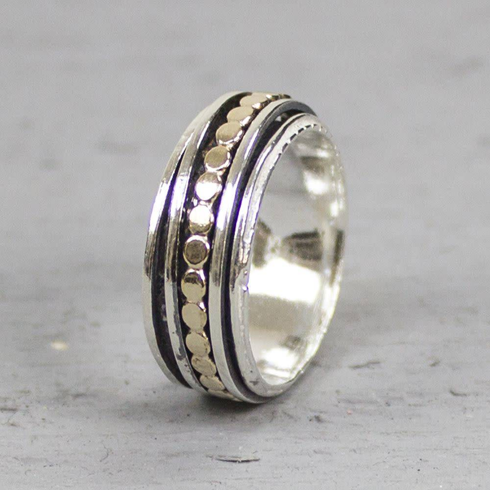 Ring zilver + Goldfilled 19222-2