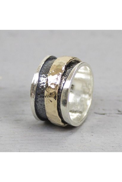 Ring Silver + Gold Filled 19223