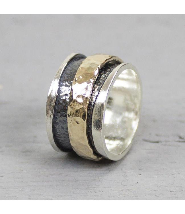Jeh Jewels Ring zilver + Goldfilled 19223
