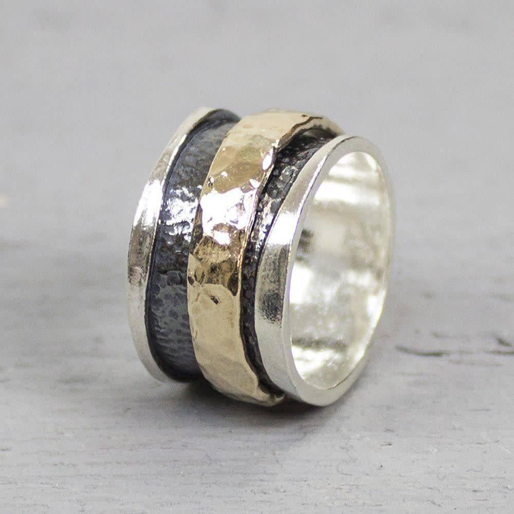 Ring zilver + Goldfilled 19223-7