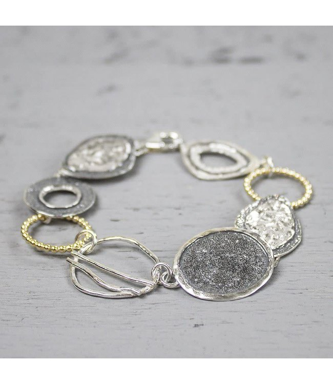 Armband zilver oxy + wit