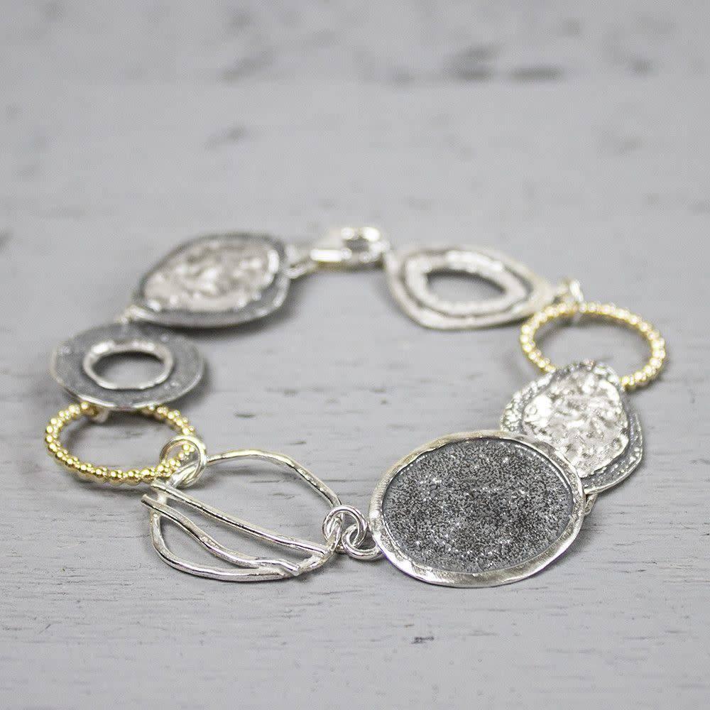Armband zilver oxy + wit-1