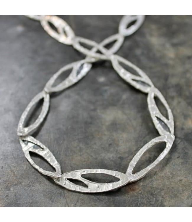 Collier zilver wit + oxy