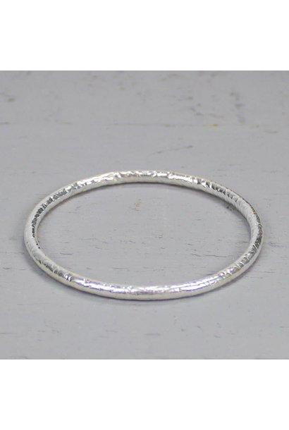 Rinkelband zilver hamerslag