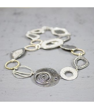 Jeh Jewels Collier silver oxy white +