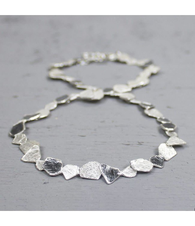 Collier zilver oxy / wit