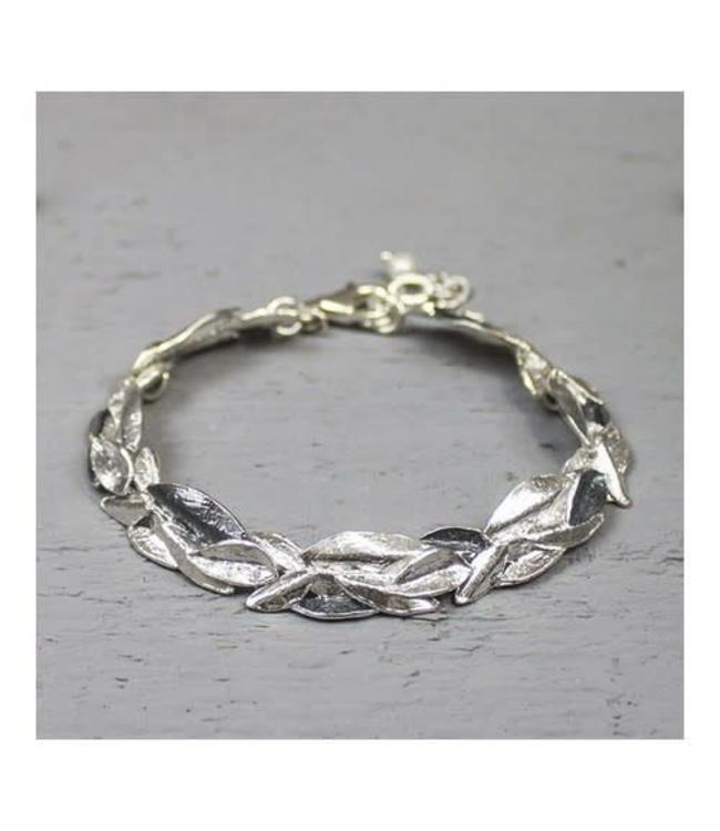 Armband zilver oxy / wit