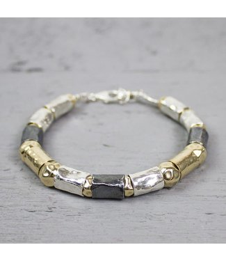 Jeh Jewels Armband zilver + Goldfilled