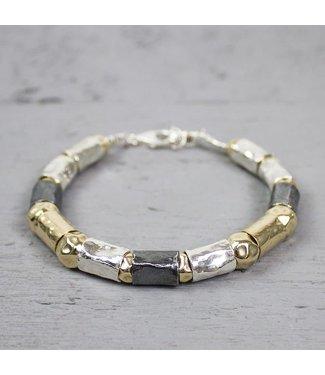 Jeh Jewels Silver bracelet + Gold Filled