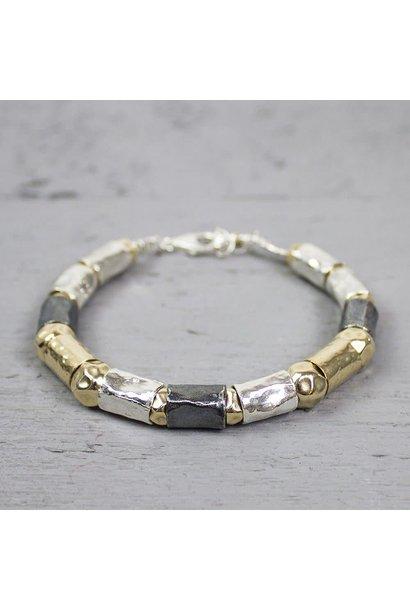 Silver bracelet + Gold Filled