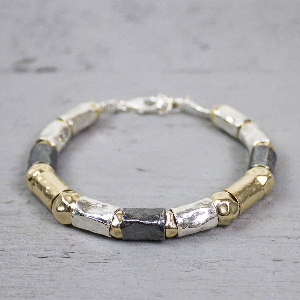 Silver bracelet + Gold Filled-1