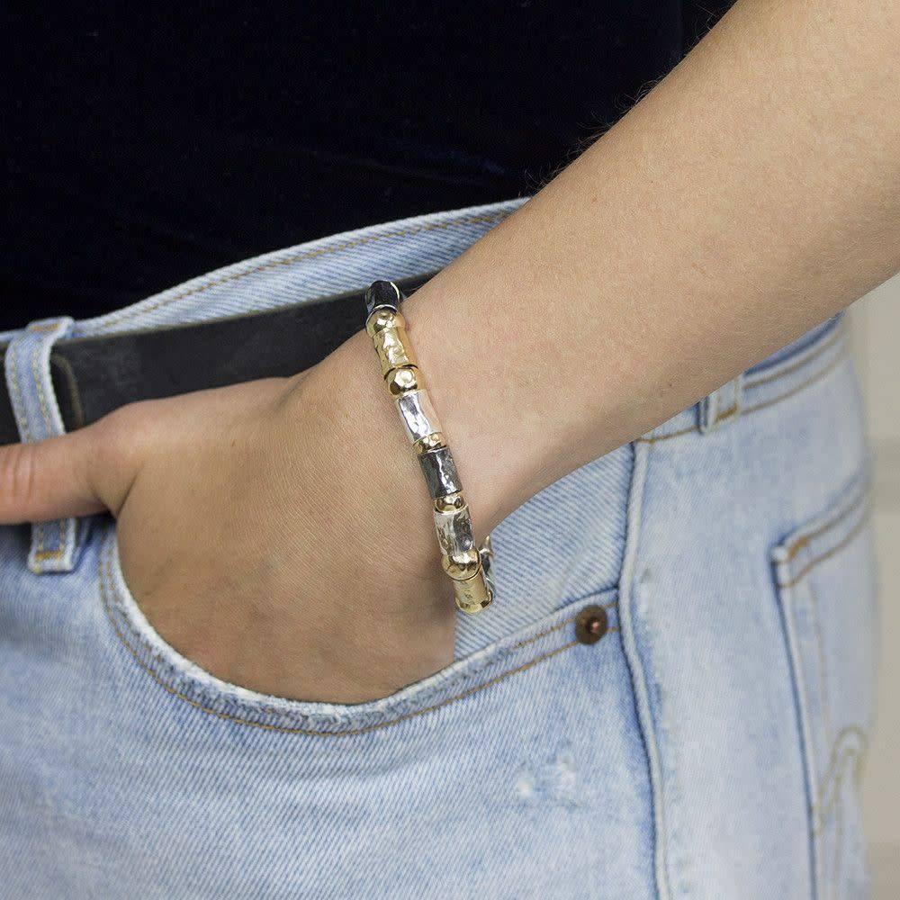 Silver bracelet + Gold Filled-2