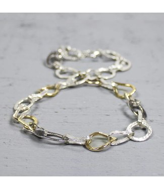 Jeh Jewels Collier zilver + Goldfilled