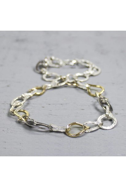 Collier zilver + Goldfilled