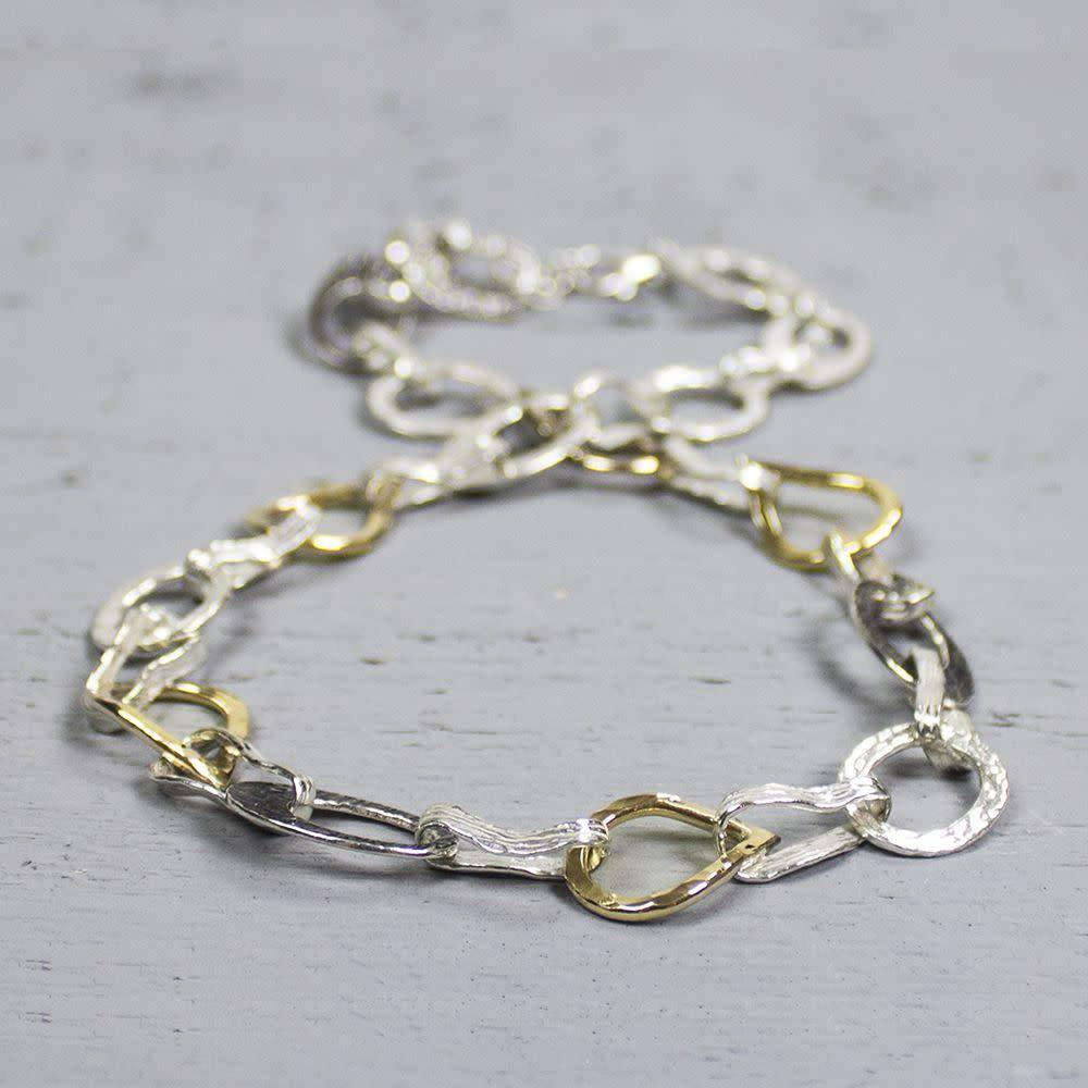 Collier zilver + Goldfilled-1