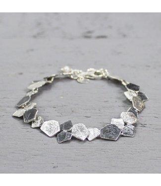 Jeh Jewels Armband zilver oxy / wit