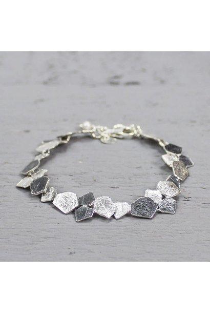 Bracelet oxy silver / white