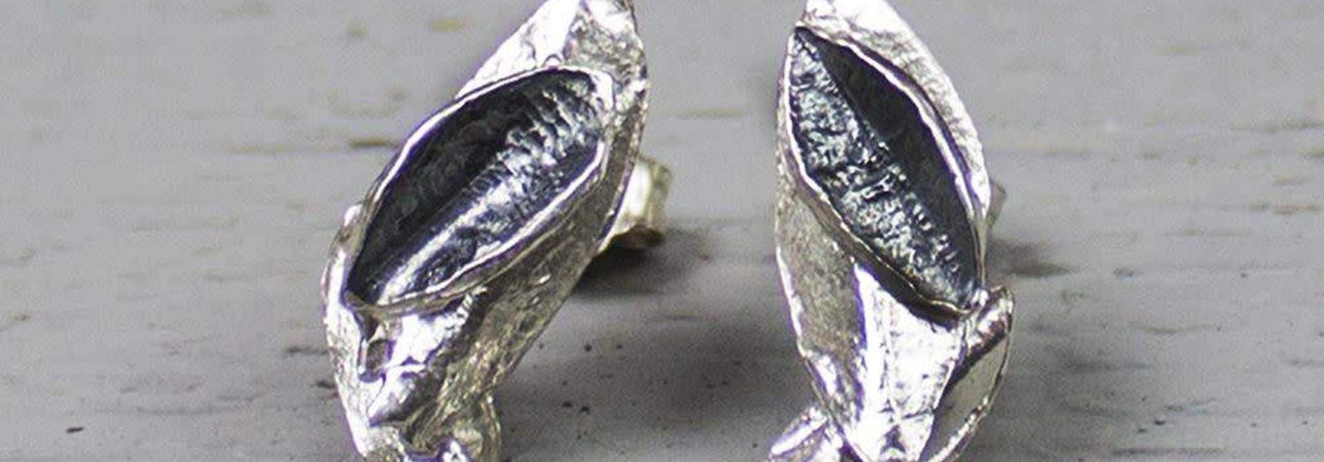 Earring oxy silver / white