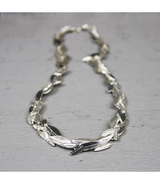 Jeh Jewels Collier zilver oxy / wit