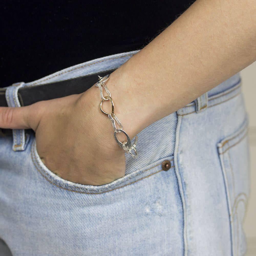 Armband zilver oxy + wit-4