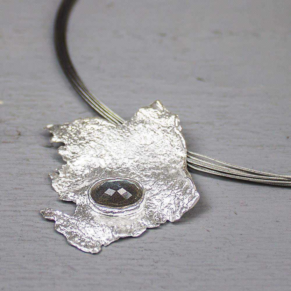 Hanger zilver wit + Labradoriet-2