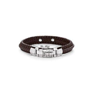 Buddha to Buddha Nurul Small Leather Bracelet Brown