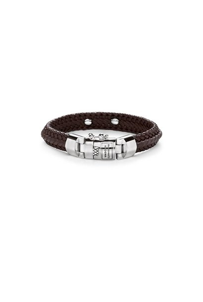 Nurul Small Leather Bracelet Brown