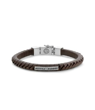 Buddha to Buddha Komang Small Leather Bracelet Brown