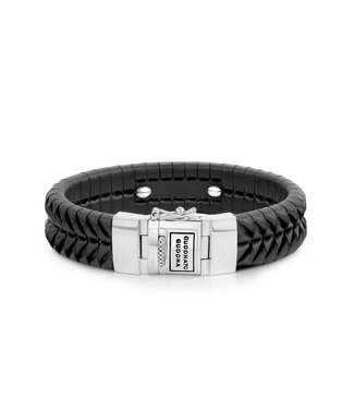 Buddha to Buddha Komang Leather Bracelet Black