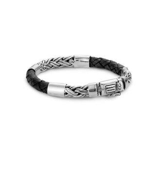 Buddha to Buddha Katja Mix /Leather Bracelet Black