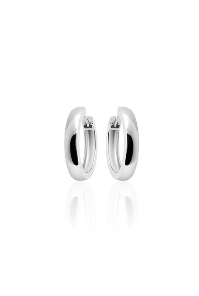 Silver Hoops 4 * 22mm