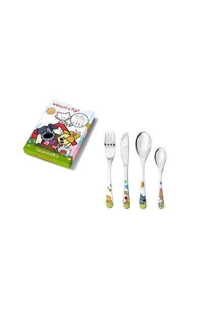 Woezel & Pip Children's cutlery - 4 pieces