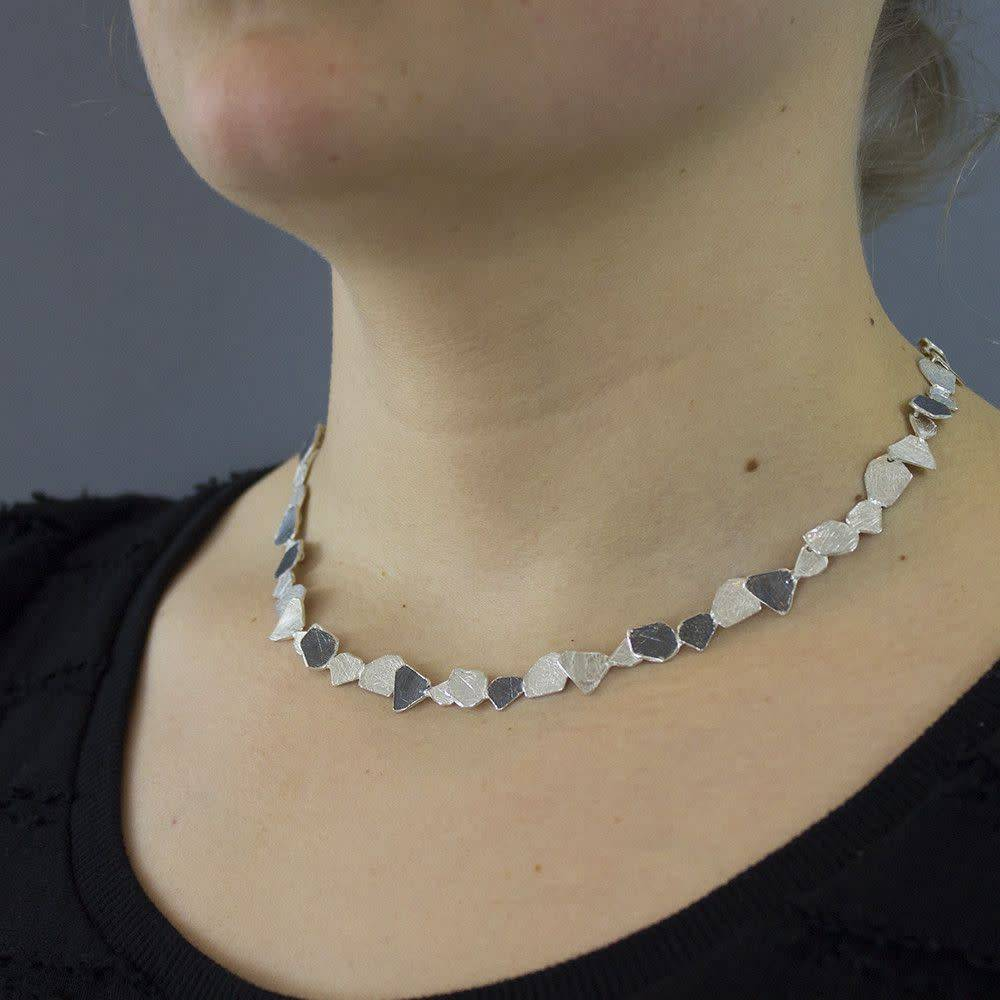 Jéh Collection Collier oxy silver / white-2