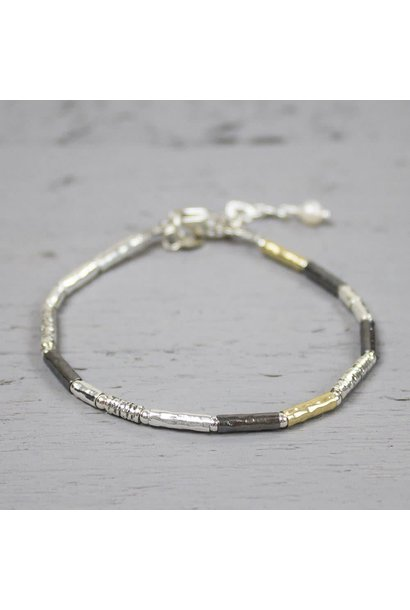 Jéh Collection Armband zilver oyx/ wit