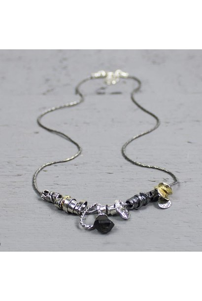 Jéh Collection Collier zilver oxy / wit