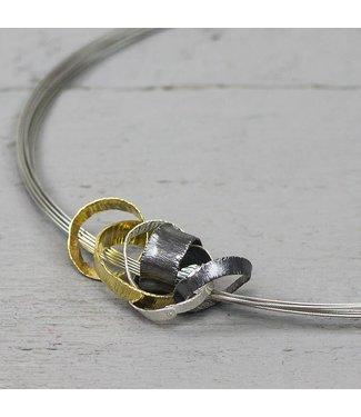 Jéh Collection Hanger multifunctioneel zilver oxy + zilver verguld
