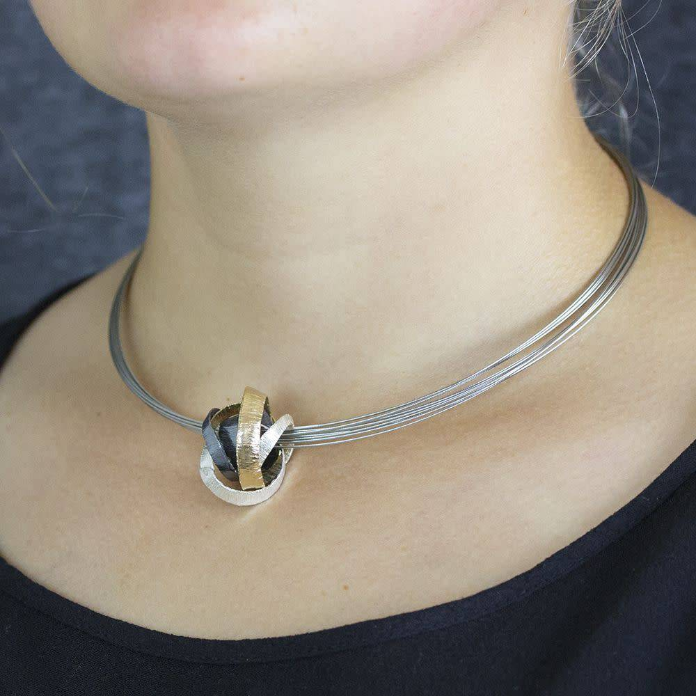 Jéh Collection Hanger multifunctional oxy silver + silver plated-4