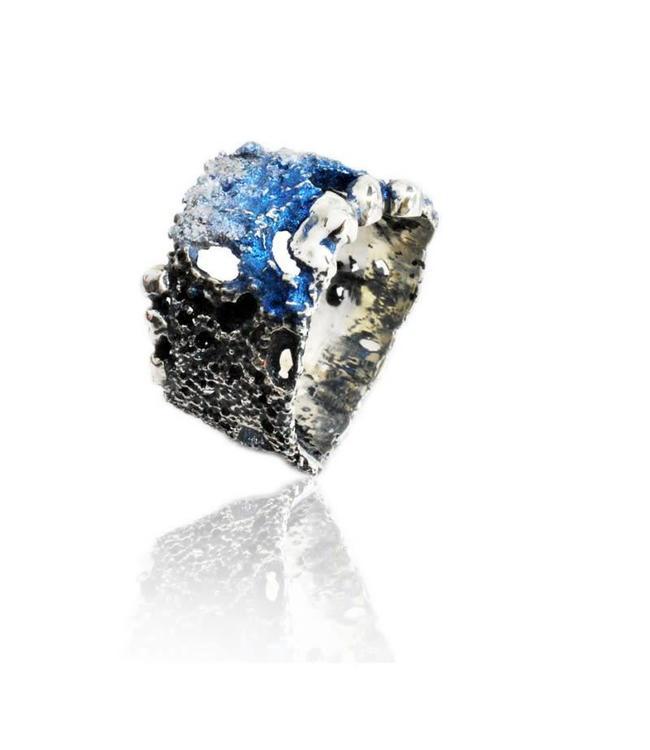 Samo Ring Rosa Blau Elèctric