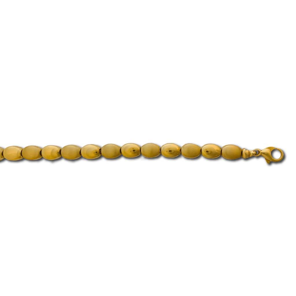 Geel Gouden Armband Fantasie 19 cm-1