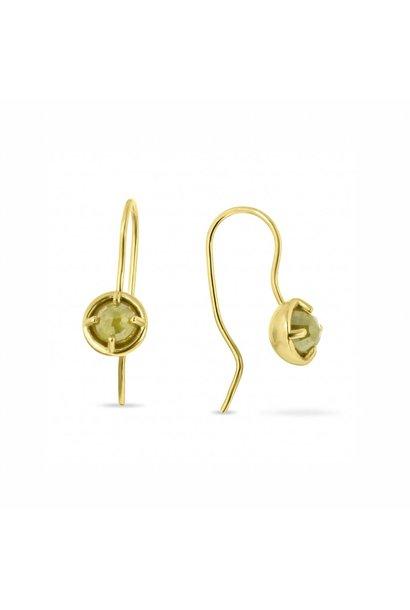 W. de Vaal - Earrings 14k Yellow Gold.