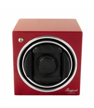 Rapport London Rapport Evolution Evo Cube Watch Winder Crimson Red